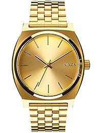 Nixon A045511-00 - Reloj analógico de cuarzo para hombre con correa de acero inoxidable, color dorado