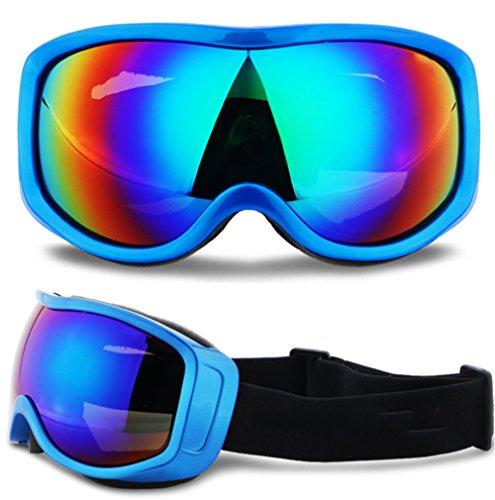 LYLhmj Skibrille Ski-Schutzbrillen Snowboard Brille Outdoor-Sport Snowboard-Schutzbrillen Anti-Nebel UV-Schutz winddicht Single-Objektiv Snowboardbrille für Motorrad Fahrrad Skifahren Skaten (Blau)