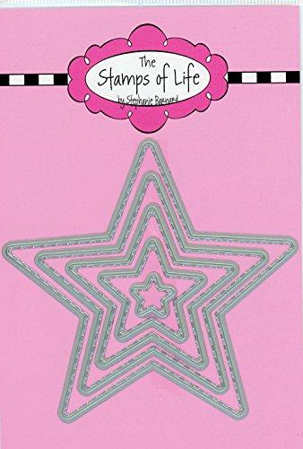 Die Briefmarken Of Life genäht Star sterben Schnitte für Karte machen und Scrapbooking Supplies von Stephanie Barnard-4. Juli