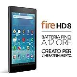 Tablet Fire HD 8, schermo HD da 8'', Wi-Fi, 32 GB (Nero) - Con offerte speciali