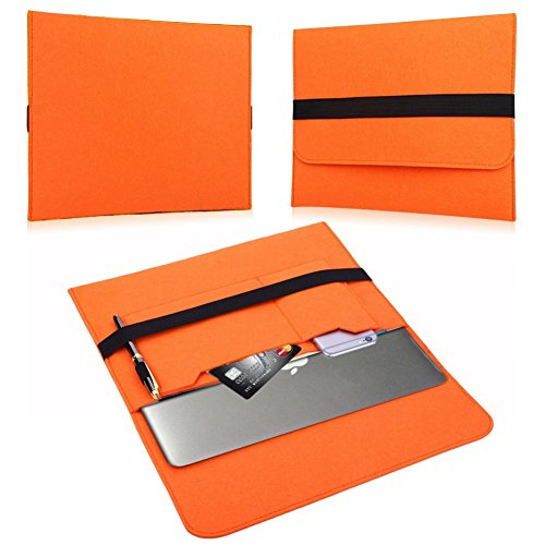 NAUC Laptop Tasche Sleeve Schutztasche Hülle Tablets MacBook Netbook Ultrabook Case kompatibel mit Samsung Apple Asus Medion Lenovo, Farben:Orange, Für Notebook:Sony VAIO VPC-Z21C5E