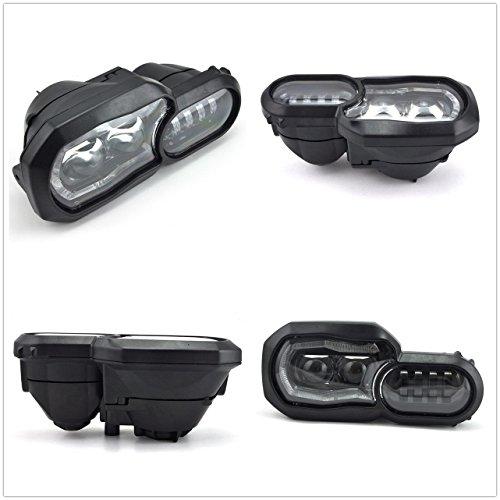 LED Scheinwerfer für Motorrad High/Low Beam mit Angel Eyes DRL Montage, wasserdicht DC12-24 V schwarz Ersatz Scheinwerfer für F800GS F700GS 2013 ~ 2016 (1 PCS) - Ersatz-scheinwerfer-montage