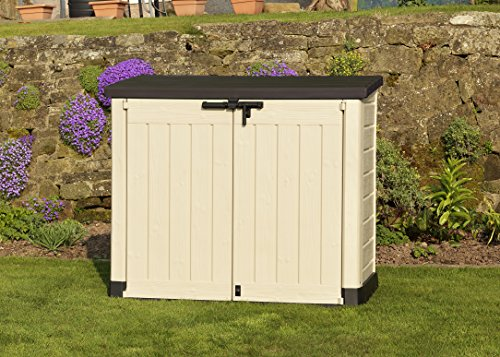 Keter Store It Out Max Outdoor Plastic Garden Storage Shed, 145.5 x 82 x 125 cm – Beige/Brown