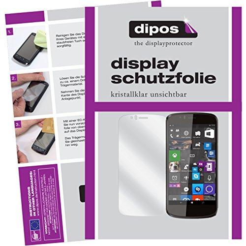 dipos I 2X Schutzfolie klar passend für Archos 50 Cesium Folie Bildschirmschutzfolie