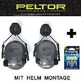 3M Peltor Helmet Mount - Tactical 6S - Original PELTOR USA elektronischer Aktiv Gehörschutz Kopfhörer mit Helmmontage