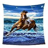 AI XIN SHOP Kuscheldecke 3D Pferd Korallen Fleece Decke Leichte Gemütliche Cozy Bett Couch Decke (Größe : 150*200cm-59*78.7inch)