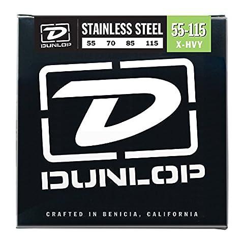 Dunlop Dbs40100Cordes de contrebasse en acier inoxydable, léger, .040–.100, 4cordes/Lot 4 cordes Extra Heavy