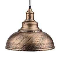 Sotoboo Vintage Antique Metal Pendant Lamp Shade - Hanging Ceiling Light Shade Lampshade for Coffee Bar Kitchen Chandelier for Home Hotel Restaurant Bar Living-Room Coffee-Shop (Bronze)
