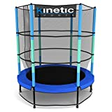 Kinetic Sports Trampolin Kinder Indoortrampolin Jumper 140 cm Randabdeckung Stangen