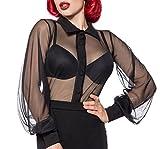 Belsira Netz-Bluse - schwarz, Größe:M