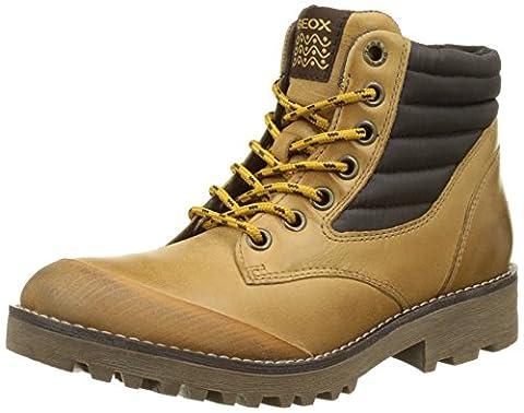 Geox Jungen JR Axel Boy A Boots, Beige (DK Yellow/COFFEEC2266), 32 EU