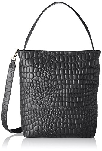 Liebeskind Berlin - Tribeca Croco, Borse Tote Donna Nero (Oil Black)
