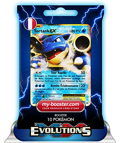 TORTANK EX 21/108 180PV XY12 EVOLUTIONS - Booster de 10 cartes Pokemon francaises my-booster