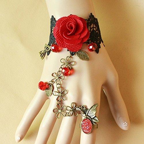 fengge Perlen Rosa Armband von gieren Vampir--Armband Retro Gotik