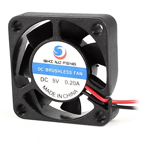 Water & Wood 40mm x 10mm 2Pin 7 Blades DC 5V 0.2A Brushless Cooling Fan Black - Dc Brushless Fan Motor
