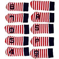 Baoblaze 10er Pack Gestrickte Golf Eisen Kopfbedeckung Set Club Putter Headcover Schlägerhaube