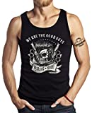 GASOLINE BANDIT Original Hot Rod Biker Tank-Top: Rockabilly, We Are The Good Guys-XXL