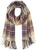 PIECES Damen Schal PCPEDJA Long Scarf, Mehrfarbig (Tan), One Size
