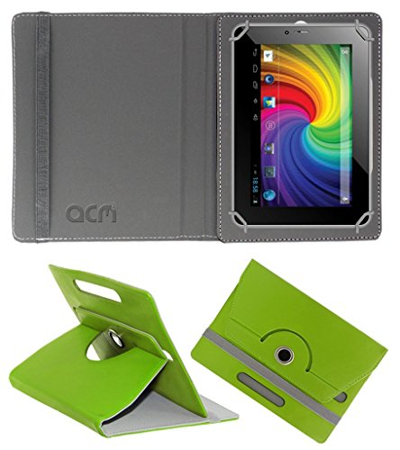 Acm Rotating 360° Leather Flip Case for Micromax Canvas P650e Cdma Cover Stand Green  available at amazon for Rs.149