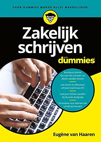 Zakelijk Schrijven Voor Dummies Dutch Edition Ebook