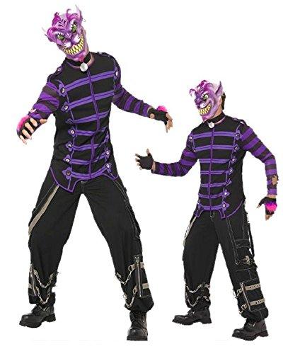 Kostüm Halloween Karneval Cheshire Cat Katze Tier Märchen Horror * 11915, mehrfarbig L