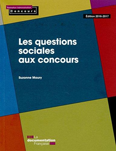 Les questions sociales aux concours par Suzanne Maury