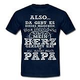Spreadshirt Tochter Herz Geklaut Papa Spruch Männer T-Shirt, XXL, Navy