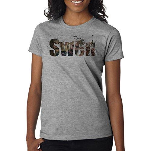 Illuminati Triangle Art Majestic Swen Zombie Damen T-Shirt Grau