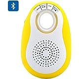 Haut-parleur Bluetooth + Appareil photo Télécommande Déclencheur pour Android/iOS–Design Mini, fente pour carte micro SD, Radio FM, mains libres (Jaune)