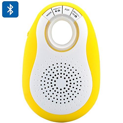 Bluetooth Lautsprecher + Kamera Fernauslöser für Android/IOS-Mini-Design, Micro SD Kartenslot, FM Radio, Freisprechanlage (gelb) - Fernauslöser Bluetooth-lautsprecher
