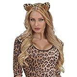 Katzenohren Harreifen Leoparden Ohren Haarreif Katzen Haarschmuck Leopard Kopfschmuck Kostüm Accessoire Damen Tigerohren Tierohren -