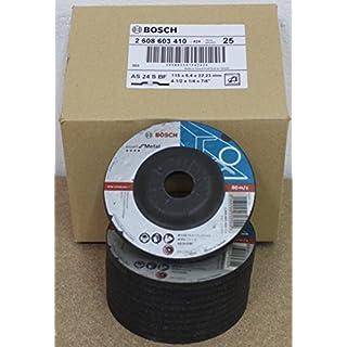 Bosch Schruppscheiben gekröpft, Standard für Metall, 115 mm, 22,23 mm, 6 mm, 25 Stück