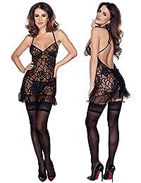 Mini Dress & String Xl Black