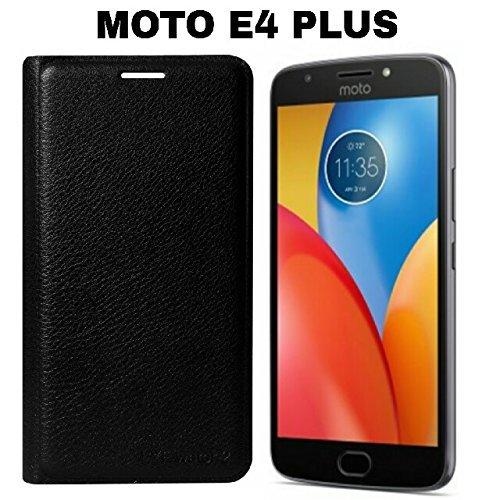 AVICA Premium Leather Flip Cover for Motorola Moto E4 Plus - Black image