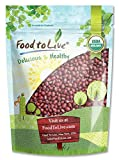 Frijoles Adzuki orgánicos, 1 Libra - Sin OGM, Kosher, secos, a granel