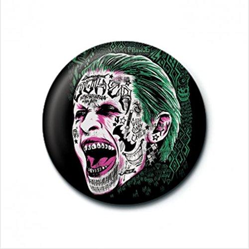 25mm pelotón del suicidio Pin 'El Joker tatuaje' Escudo oficial