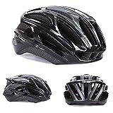HUOFEIKE Profi-Fahrradhelm, Radhelm, Mountainbike-Lüftung und winddichtem Adjustable Head Size Sports Fahrradhelm, Male/Female,Black