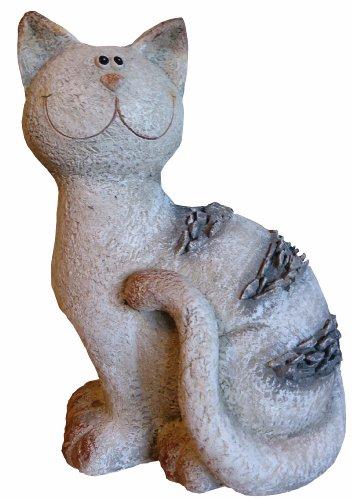 Figure de jardin Chat avec aspect de la pierre