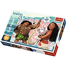 Trefl - Disney Vaiana - Puzzle 100 pezzi per bambini