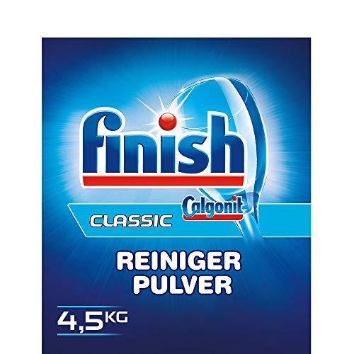 Finish Calgonit Classic Reiniger-Pulver, Geschirrspülmittel, Spülmaschinenpulver, Kraftvolle Reinigung mit Aktiv-Einweichstoffen, 4,5 kg