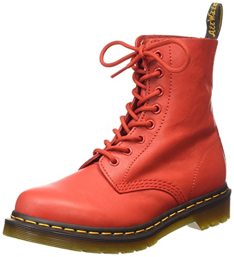 Dr. Martens Pascal Virginia Buffalo Blood, chaussures bateau femme Rouge - Rot (Buffalo Blood)
