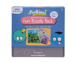 PodSquad Learning Games for Children: Fun Puzzle Pack – 2-in-1 Pack of Science Puzzles