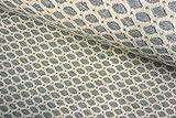 Qualitativ hochwertiger Double Face Jacquard Jersey Stoff mit Kästchenmusterung in Hellgau als Meterware zum Nähen von Kinder Kleidung, 50 cm