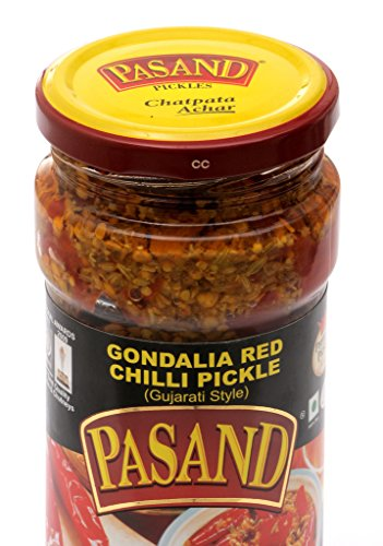 Pasand Gondalia Red Chilli Pickle 400 G In Glass Jar