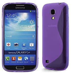 Purple S-Line Gel Skin Case Cover For Samsung Galaxy S4 Mini I9190 With Free Screen Protector & Polishing Cloth By Connect Zone®