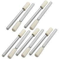 Portal Cool Cabeza de fieltro cilíndrica de vástago de 4 mm de 1/8 pulgada de pulido Punto de pulido montado 10 piezas