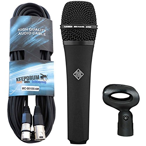 Telefunken M80 Black dynamisches Mikrofon + keepdrum XLR-Kabel