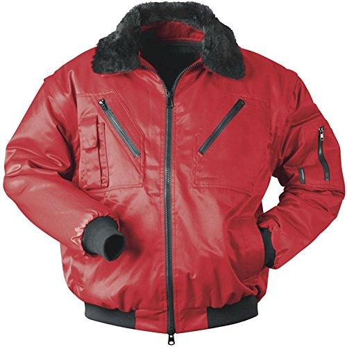 Qualitex Piloten-Jacke 4 in 1 - Kragenfutter und Ärmel abtrennbar - rot - Größe: 3XL