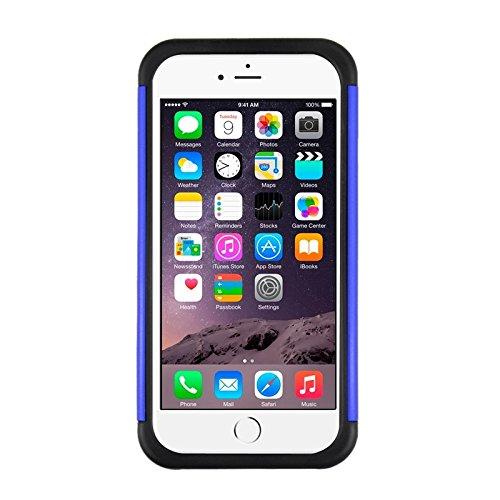 Phone case & Hülle Für IPhone 6 / 6S, Starry Pattern Silikon + Kunststoff Kombinationsetui ( Color : Black ) Dark Blue