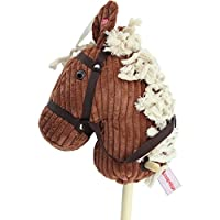 "Sweety-Toys 6762 ""BROWN Sugar"" CORD COTTON hobby horse with sounds"